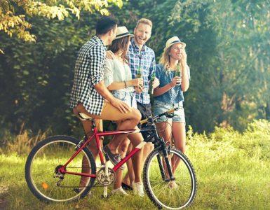 Betrunken auf dem Fahrrad