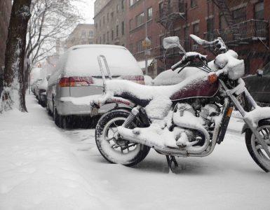 Motorradfahren im Winter
