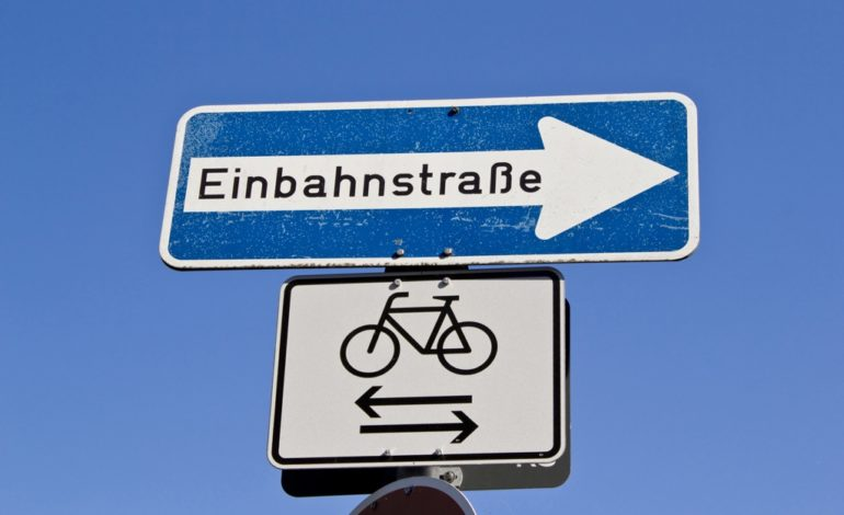 Einbahnstraßen mit dem Fahrrad