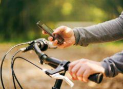 Handy auf Fahrrad nutzen